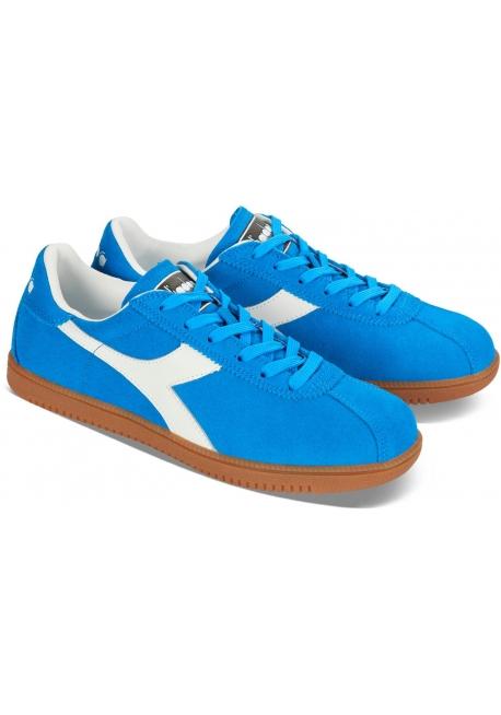 Diadora men's Tokio sneakers in azure suede leather