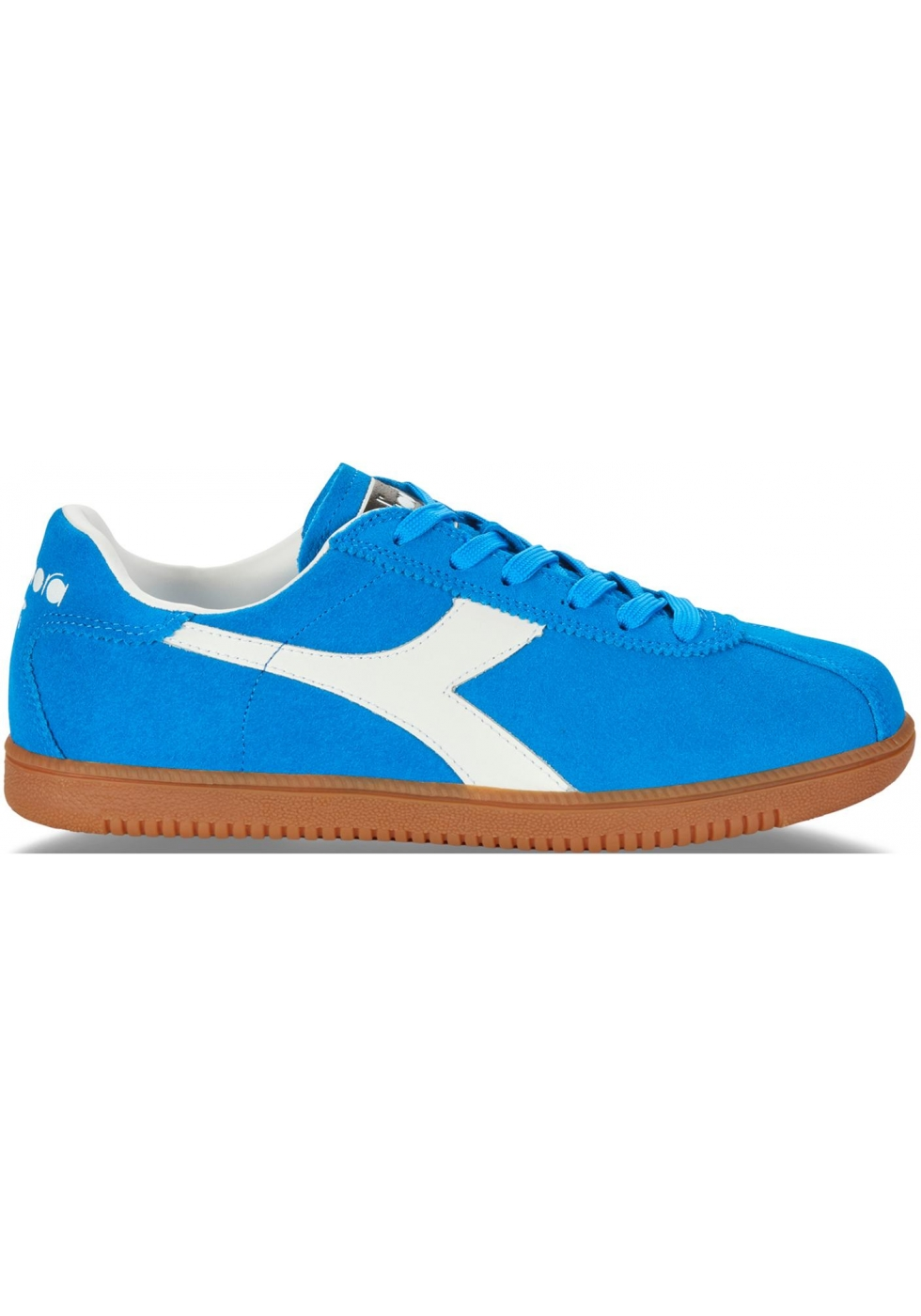 Diadora Men S Tokio Sneakers In Azure Suede Leather Italian Boutique