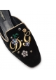 Dolce&Gabbana women's slippers in black velvet