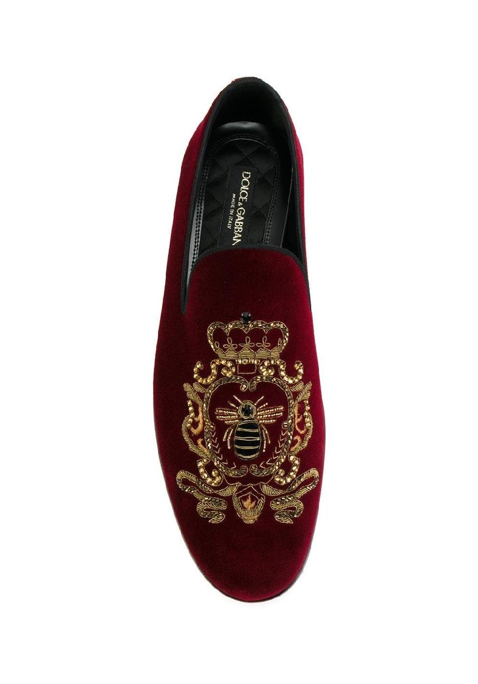 Dolce Amp Gabbana Men S Loafers In Burgundy Velvet Italian Boutique