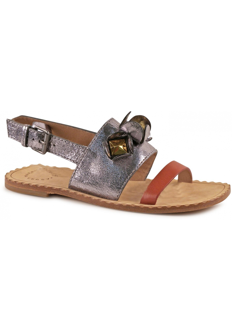 Marc Jacobs Women Sandals In Multi Color Leather Italian