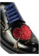 Dolce&Gabbana women's lace-up in black shiny leather