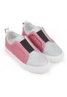 Pierre Hardy sneaker slip-ons in silver/pink glitter