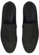 Jimmy Choo men's loafers in black suede leather