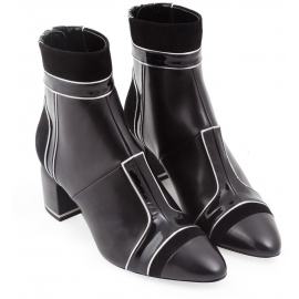 Pierre Hardy heeled ankle boots in black lambskin