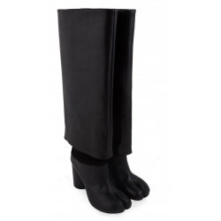 Maison Margiela knee high boots in black Leather