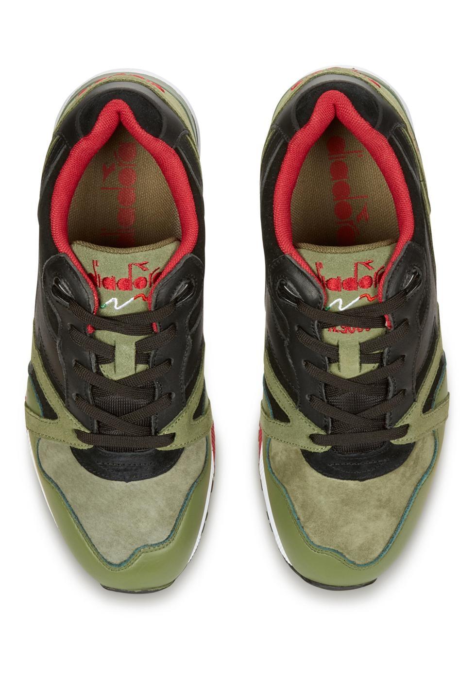 Diadora N9000 Men S Sneakers In Khaki Suede Leather Italian Boutique