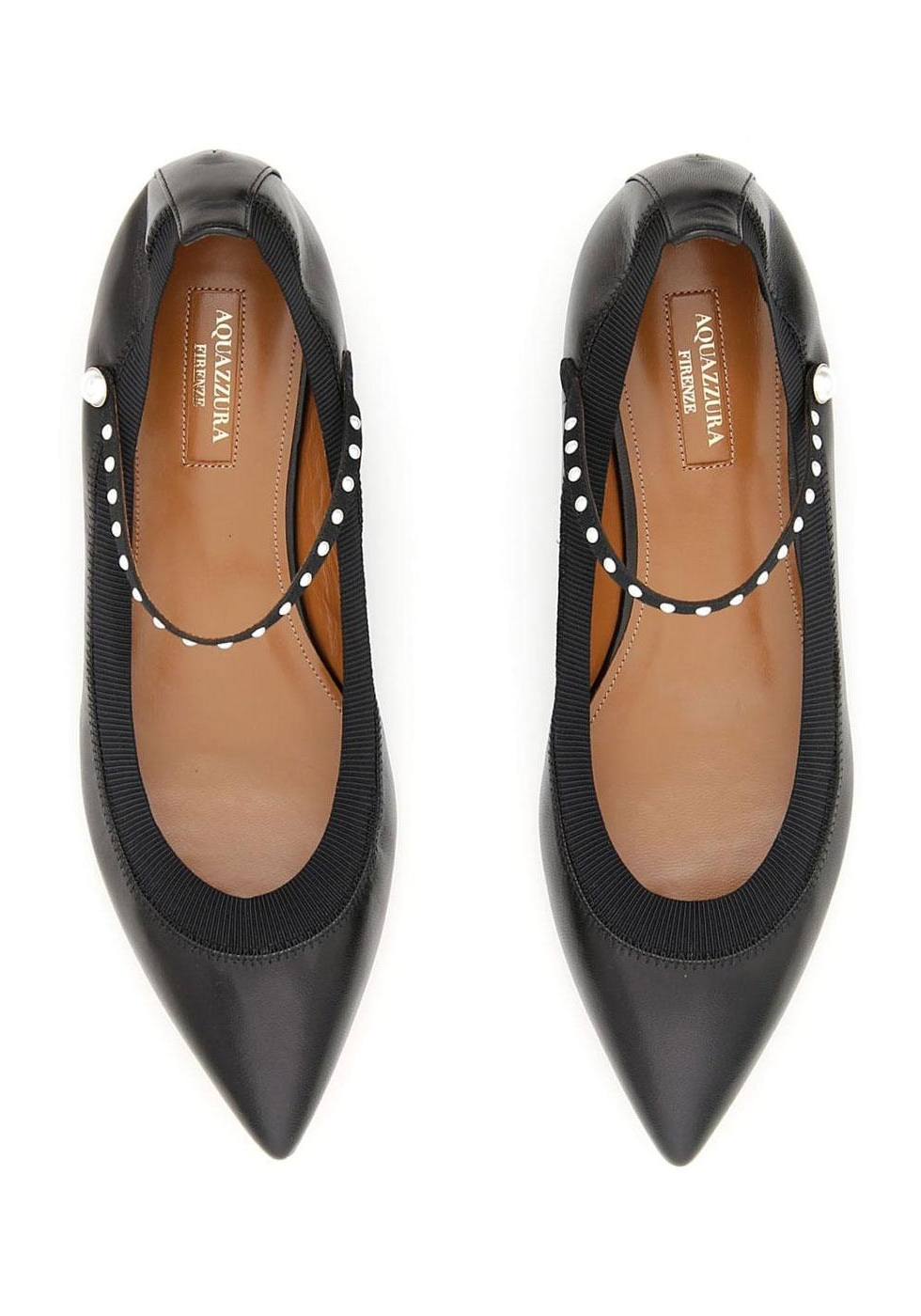Italian Flats Leather Shoes Ballerina