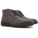 Tod's men's ankle boots in anthracite suede leather