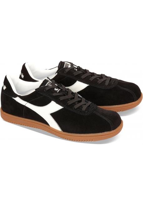 Diadora Tokio men s sneakers in black suede leather - Italian Boutique 67dee0b5ee4
