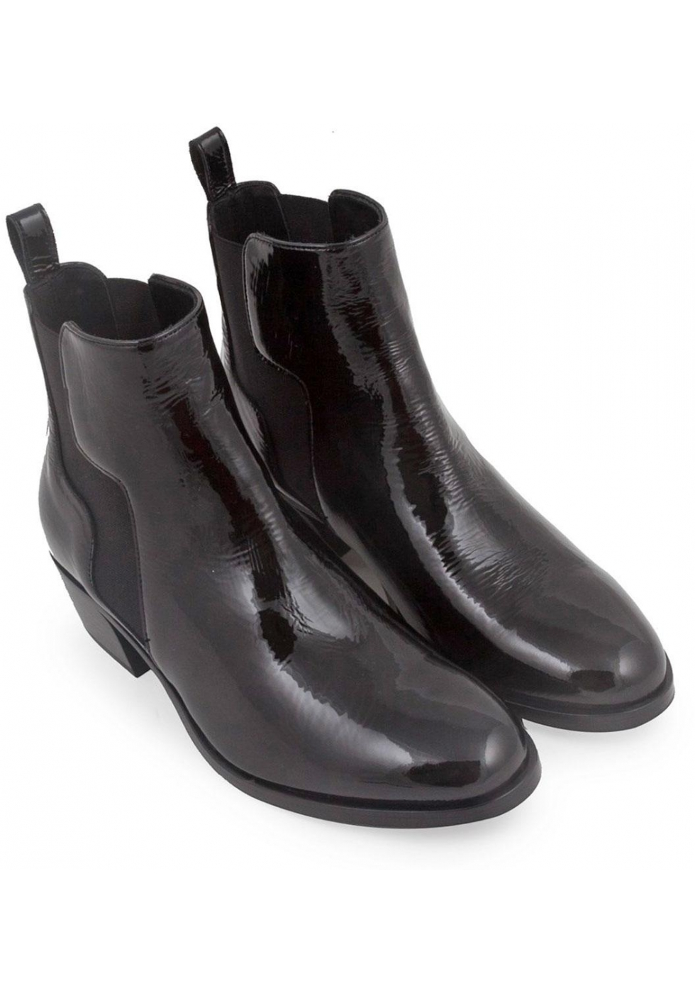 Pierre Hardy Women S Ankle Boots In Black Patent Leather