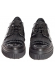 Tod's women's lace-up in black patent leather