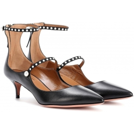 Aquazzura heels pumps in black calf leather