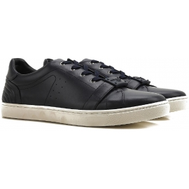 Dolce&Gabbana men's sneakers in black calf leather