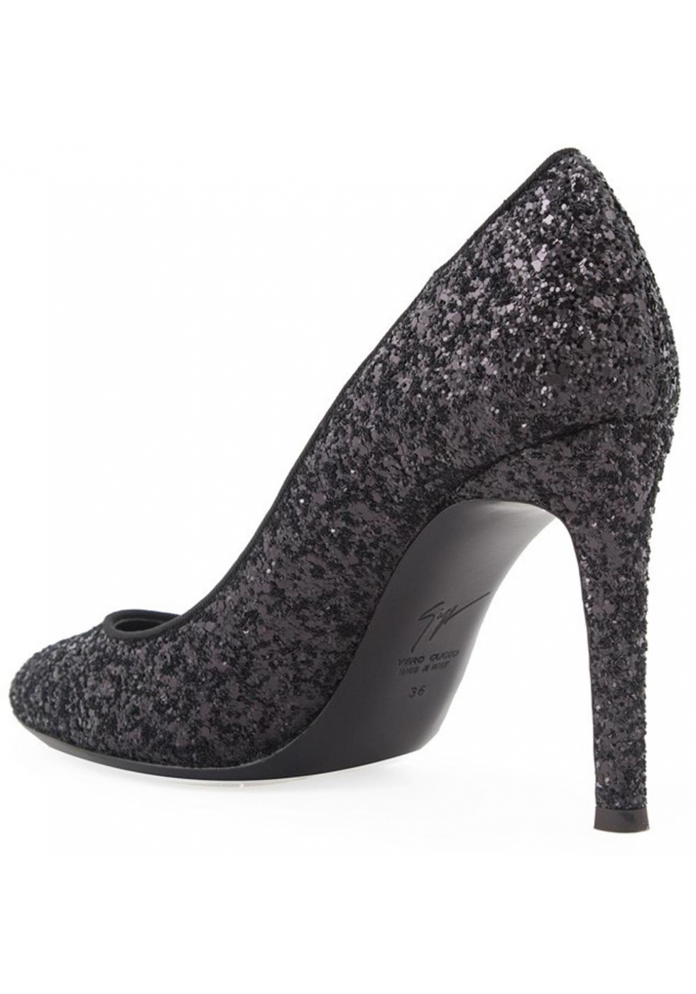 10bef1ae5 Giuseppe Zanotti stiletto heels pumps in black glitter - Italian ...