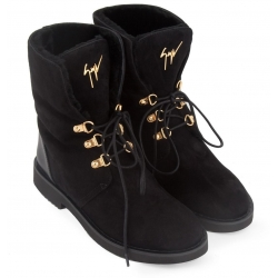 Giuseppe Zanotti ankle boots in black suede leather