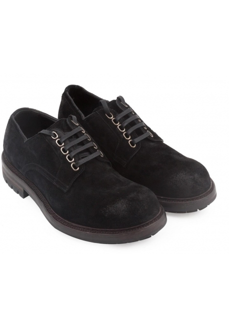 Dolce&Gabbana men's lace-up in black calf leather