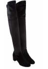 Aquazzura thigh high boots in black suede leather
