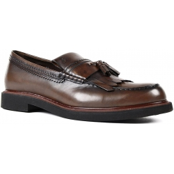 Tod's men's tassels loafers in chocolate Leather