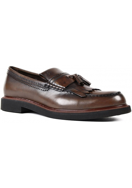 e6b740cb247 Tod s men s tassels loafers in chocolate Leather - Italian Boutique