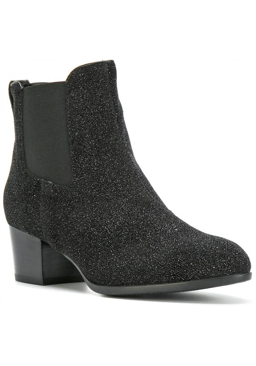 Sergio Rossi Black Kitten Heel Shoes