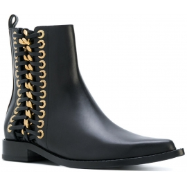 Alexander McQueen women's ankle boots in black leather