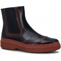 Tod's women's chelsea boots in brown patent leather
