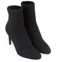 Zanotti stiletto heels booties in black glitter