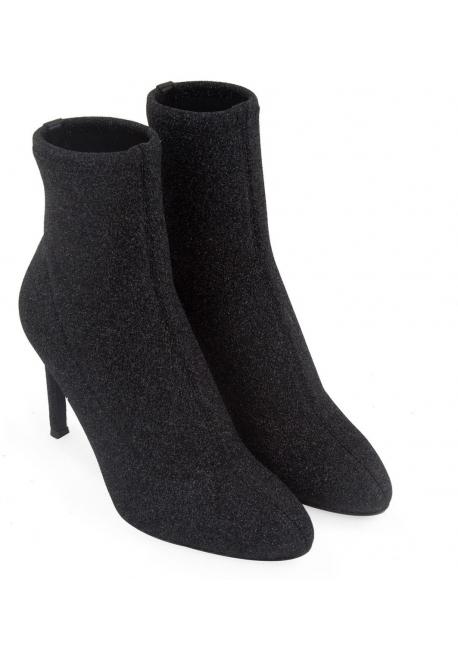 Giuseppe Zanotti stiletto heels booties in black glitter