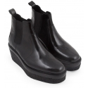 Pierre Hardy wedges ankle boots in black shiny calf leather