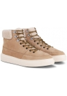 Hogan men's low boots in beige nubuck leather