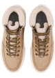 Hogan men's low boots in beige nubuck leather