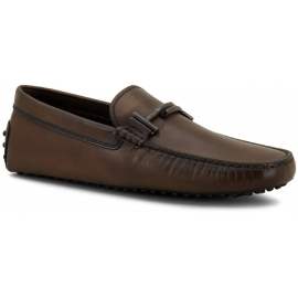 Tod's men's loafers in vintage chocolate calf leather