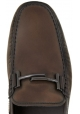 Tod's men's loafers in chocolate calf leather