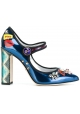 Dolce&Gabbana Mary Janes pumps in multi-color patent leather