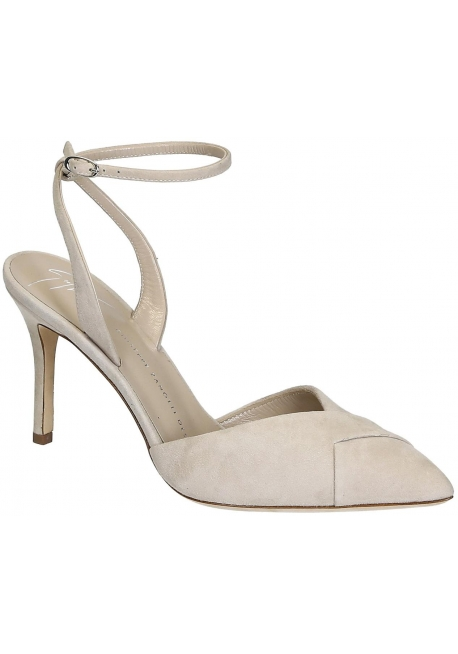 Giuseppe Zanotti ankle strap pumps in nude suede