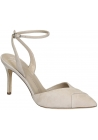 Zanotti ankle strap pumps in nude suede