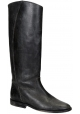 Golden Goose knee high boots in dark brown leather