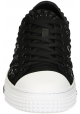 Valentino men's low top sneakers in black fabric