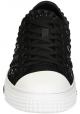 Valentino men's low top sneakers in black fabric
