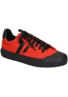 Céline women's low top sneaker shoes in red canvas