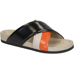 Céline slide slippers in black Patent Leather