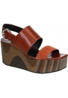 Céline wedges sandals in rust shiny calf leather
