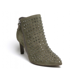 Vic Matié ankle boots in khaki suede leather
