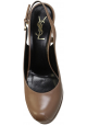 Saint Laurent slingbacks in light brown calf leather