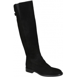 Dolce&Gabbana knee high boots in black suede leather