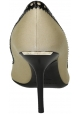 Burberry stilettos peep toes in beige leather and fabric