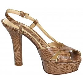 Dolce&Gabbana slingback sandals with platform in brown leather
