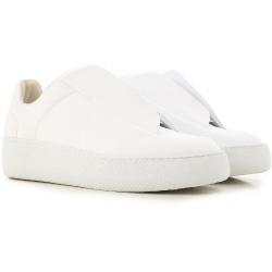 Martin Margiela men's white leather future sneakers