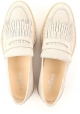 Hogan women's wedges loafers shoes in beige suede